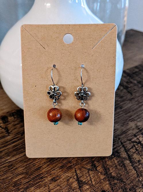 Flower + Wood Earrings