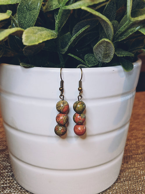 Olive + Rust Earrings