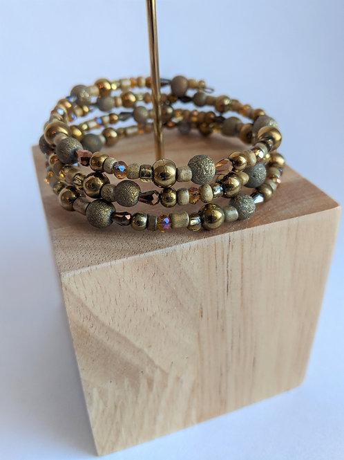 Amber Bead Wrap Bracelet