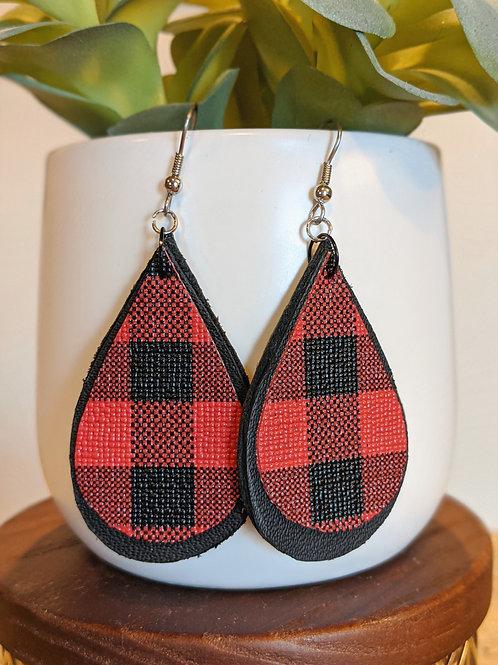 Red + Black Earrings