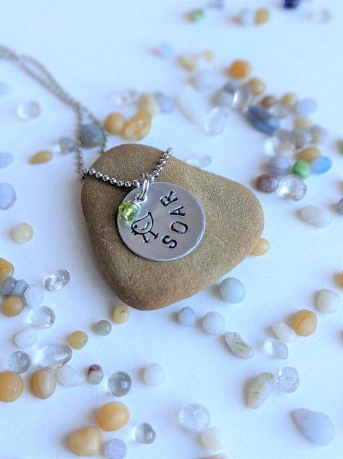 Soar | Hand Stamped Necklace