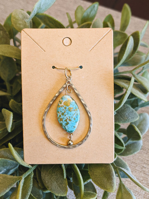 Gold + Turquoise Necklace Charm