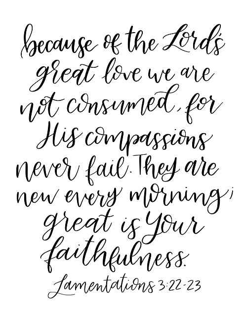 Lamentations 3:22-23 | Printable