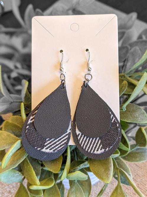 Black + White Earrings