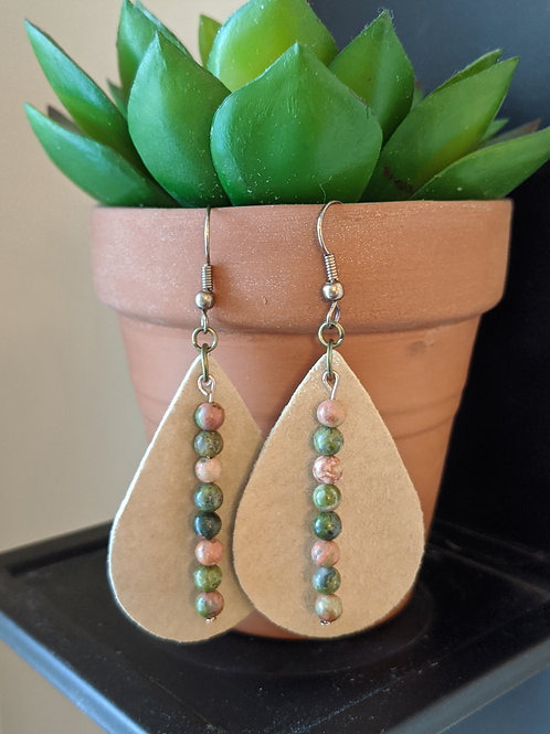 Suede Tear Drop Earrings