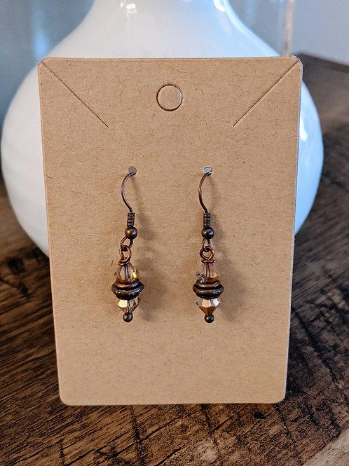 Brown Copper Earrings