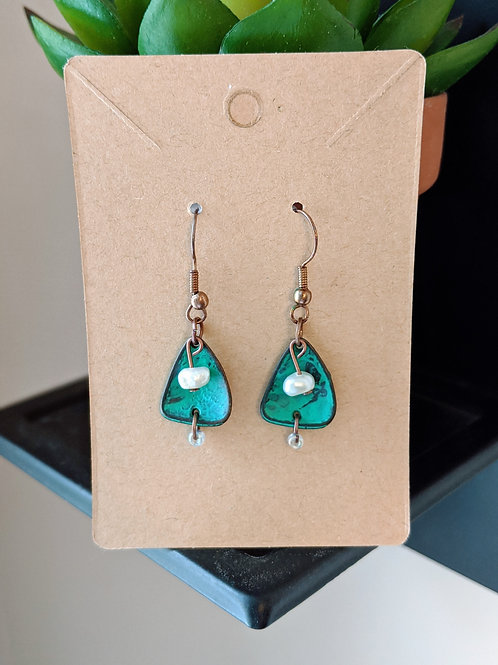 Turquoise + Pearl Earrings