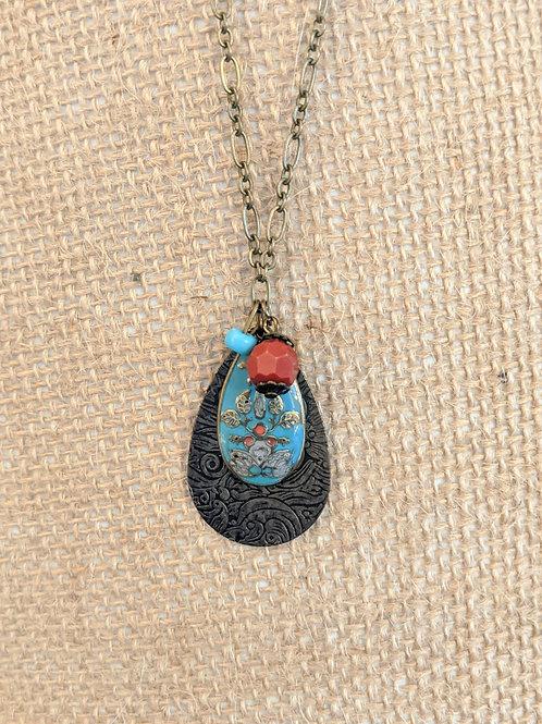 Floral Bronze Necklace