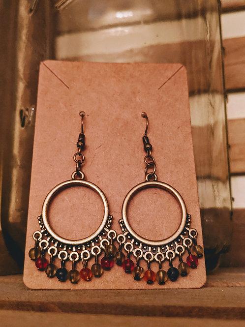 Metal + Bead Earrings