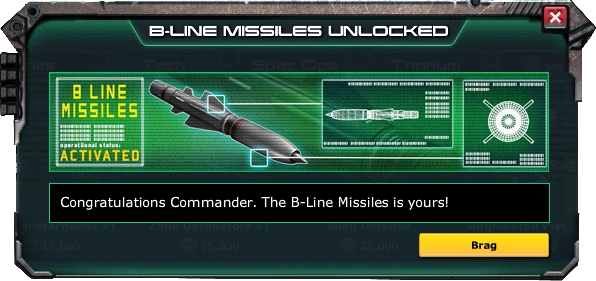 War Commander Bases | B-Line Missiles The War Commander B-Line Missiles requires a Level 8 Workshop to be Unlocked.