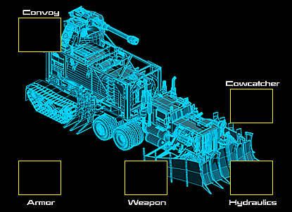 War Commander | War Rig Schematic War Rig Schematic may be equipped on the War Rig, Elite War Rig & Omega War Rig and has 5 Component Slots