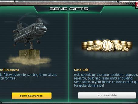 War Commander | Sending Gold to Friends
