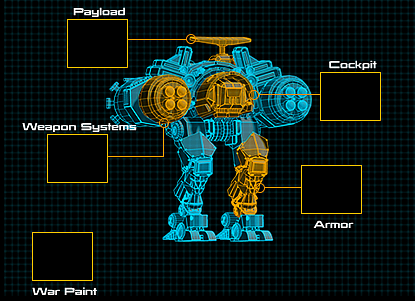 War Commander | Viper X Schematic The Viper X Schematic has 5 Component Slots each containing 1 to 3 Upgradable Items.