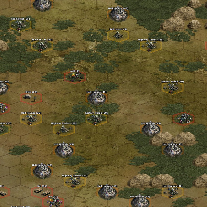 War Commander | World Map The world map of each sector is different. After relocation, each player is granted a place on the world map.