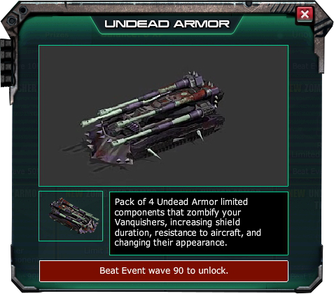 War Commander Bases | Undead Armor  The War Commander Undead Armor require a Level ? Workshop to be Unlocked.