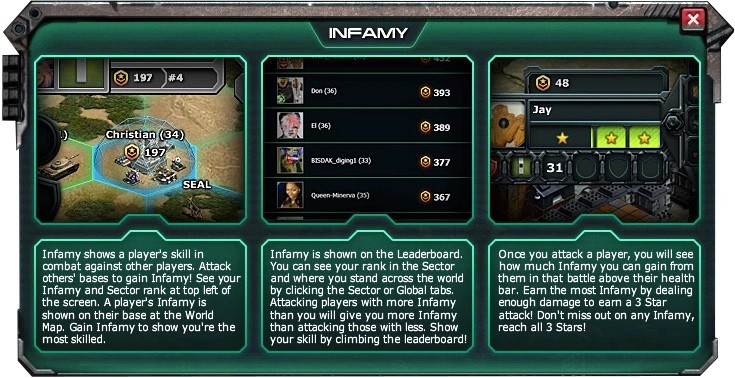 Can someone please explain War Commander Infamy to me and how it is calculated? My lack of understanding is frustrating trying to comprehend