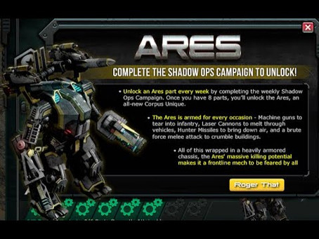 War Commander | Ares Unlock Requirements