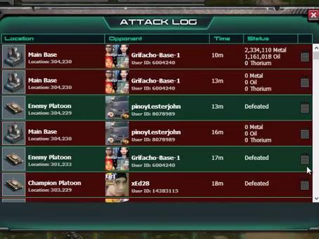 War Commander Bases | Attack Log Not Loading