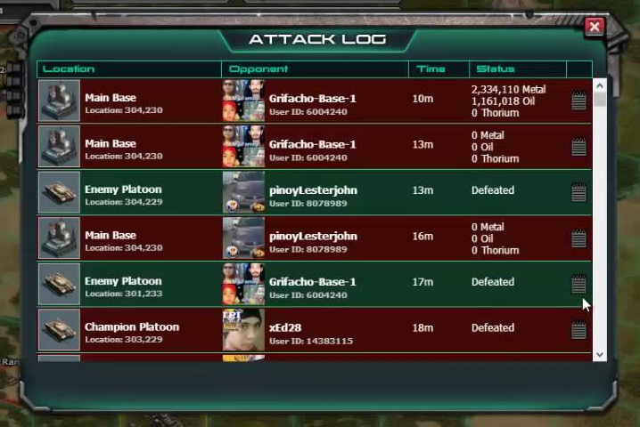 War Commander Bases | Attack Log Not Loading Q: War Commander Attack Log Not Loading This War Commander account does not qualify for support because