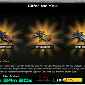 Can yall please make the war commander gold sales longer next time. some War Commander players that work