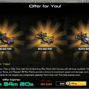 War Commander | More Gold Sales