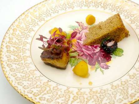 Overture – Foie Gras & Banana Cordon Bleu, paired with Cassis Monna & Filles