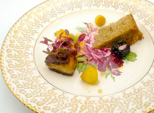 Overture –Foie Gras & Banana Cordon Bleu, paired with Cassis Monna & Filles