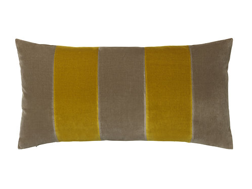 Stripe 40x80 #taupe/golden olive