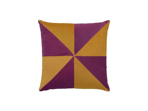 Suki 40x40 #violet/curry