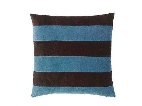 Stripe 55x55 #mazarine /chokolate