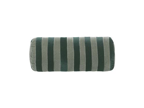 Bolster stripe #emerald/artichoke