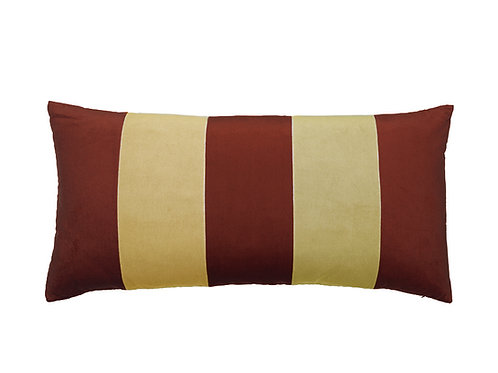 Stripe Velvet 40x80 wine/barley