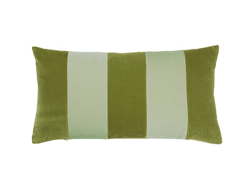 Stripe Velvet 40x80 leaves/sage