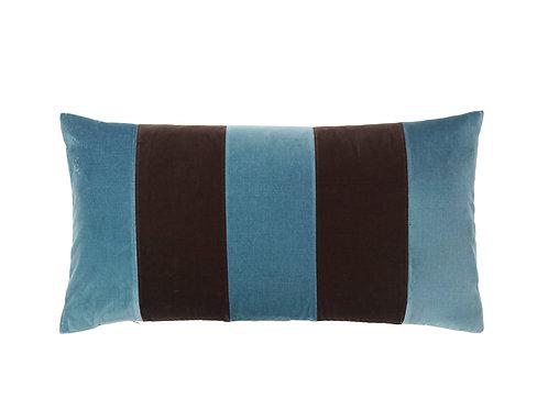 Stripe Velvet 40x80 mazarine/chokolate