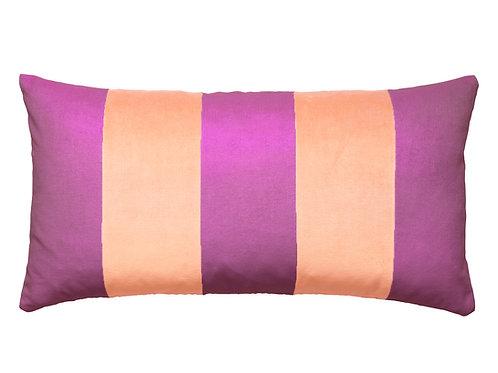 Stripe 40x80 violet/beige