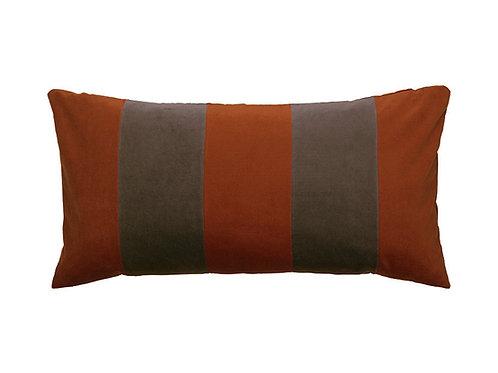 Stripe Velvet 40x80 dark red/dark kit