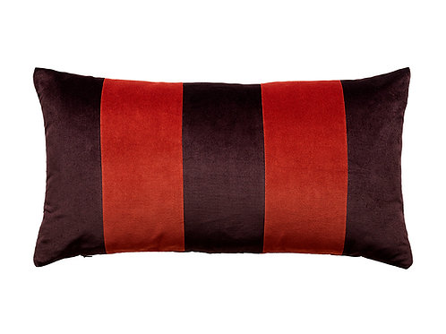 Stripe 40x80 #88 aubergine/red pepper