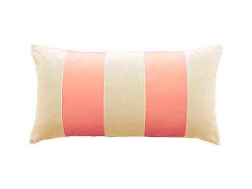 Stripe Velvet 40x80 beige/blush
