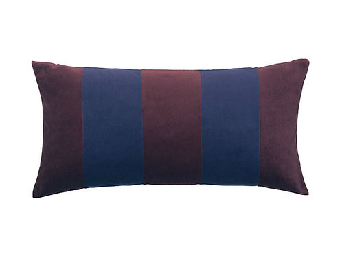 Stripe 40x80 #aubergine/dark blue