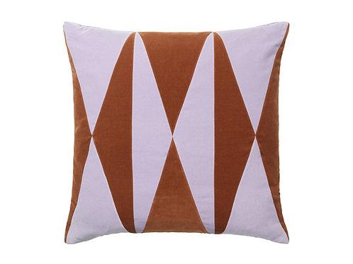 Anneli 55x55 #burnt orange/lavender