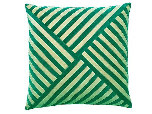 Lily 55x55 #167 emerald/cream