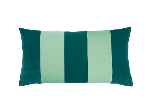 Stripe Velvet 40x80 new petrol/mint