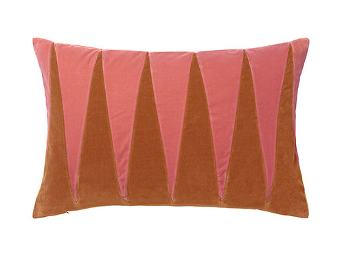 Paula 40x60 #blush/burnt orange