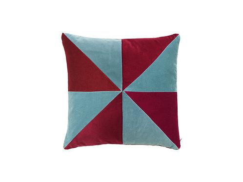 Suki 40x40 #pale blue/ruby