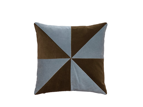 Suki 40x40 #184 chocolate/blue grey