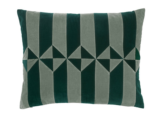 Olivia 50x60 #emerald/artichoke