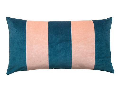 Stripe Velvet 40x80 mazarine/pale rose