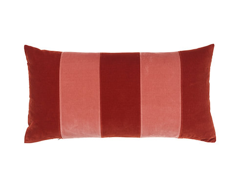 Stripe 40x80 #dark red/blush