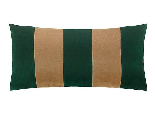 Stripe 40x80 #Emerald/camel