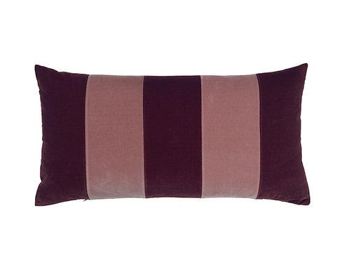 Stripe Velvet 40x80 prune/old rose